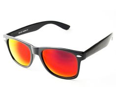 MATTE RED MIRROR REVO LENS WAYFARER SUNGLASSES W341