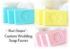 50 Stamped Soap Custom Bridal Shower Favors   by crimsonhill