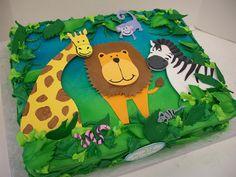 Birthday Cakes Jungle Theme ~ Roaring safari jungle cake huggies birthday cake gallery huggies