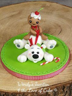 Christmas Themed Cake, Christmas Cake Designs, Christmas Cake Topper, Christmas Cake Decorations, Polymer Clay Christmas, Polymer Clay Crafts, Clay Ornaments, Christmas Ornaments, Moldes Para Baby Shower