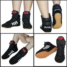 Good Quality Boxing shoes Top pro competition black wrestling boot MMA high shoes muay Thai Martial arts shoes size 35#-45#