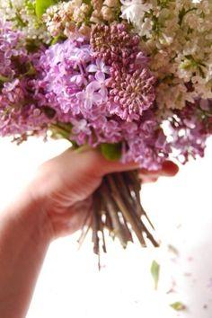 gathered flower bouquet