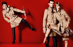 Romeo Beckham, son of football star David Beckham and designer Victoria Beckham, is making his modeling debut in Burberry's Spring/Summer 2012 campaign. We <3
