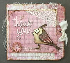 I believe this is the only Bird Crazy stamp I had left to get inky! Made this pink and white tag card for a co-worker who was my su...