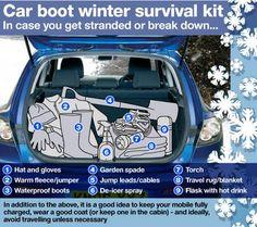Winter survival kit for motorists