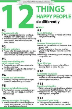 12 things happy people do differently