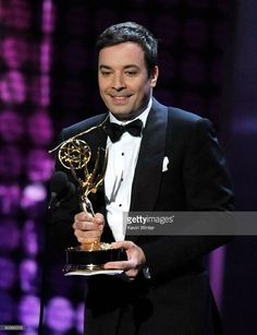 Television show host Jimmy Fallon speaks onstage during the 61st Primetime Emmy Awards held at the Nokia Theatre on September 20, 2009 in Los Angeles, California.