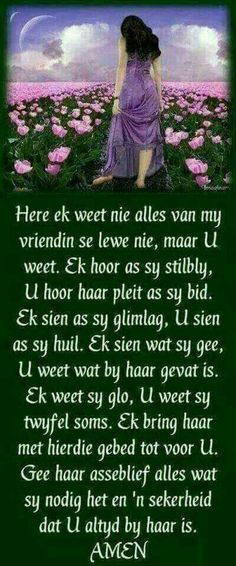 Gebed vir my vriendin Beautiful Quotes Inspirational, Inspirational Message, Prayer Verses, Bible Prayers, Special Words, Special Quotes, Bible Emergency Numbers, Happy Birthday Wishes Messages, I Love You God