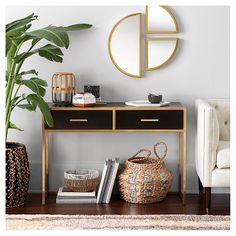 This new Nate Berkus collection fuses classic and modern styles. Think timeless furniture, global accents and of-the-moment decor, perfectly balanced to complete a room. Many pieces are woven or paint by hand for one-of-a-kind style.