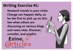#Writing Exercise: Research trends in your niche!