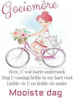 Lekker Dag, Good Night Blessings, Goeie More, Day Wishes, Afrikaans, Good Morning Quotes, Verses, Blessed, Place Card Holders