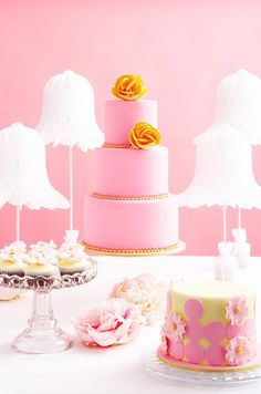 Pink desserts table.