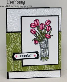 (4 WAYS TO ELIMINATE PART OF A STAMPED IMAGE) Lisa Young: Add Ink and Stamp –  ELIMINATING PART OF A STAMPED IMAGE - 2/18/15.  Pin#1: Tutorials: Stamping...  Pin+: Flowers: SU-Stamped...)