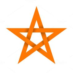 Orange star with shadow by @Graphicsauthor