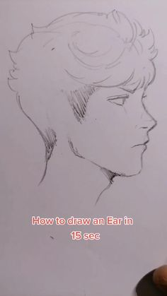Easy drawing an ear in seconds