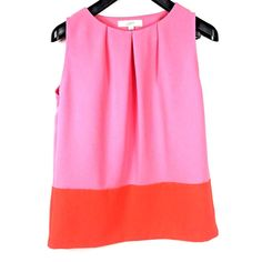f06e4476521018 LOFT Womens S Tank Top Blouse Color Block Retro Hippie Career Pink Orange  Small  fashion  clothing  shoes  accessories  womensclothing  tops  ad  (ebay link)