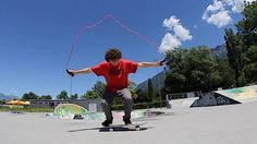JUMP ROPE SKATE TRICKS!: that was sketchy and fun at the same time :) My Youtube Channel:… #Skateswitzerland #Jump #ROPE #skate #TRICKS
