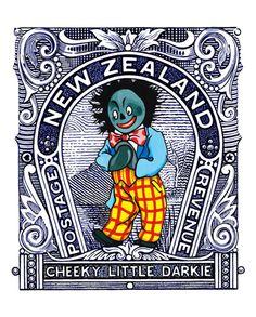 Cheeky Little Darkie by Lester Hall for Sale - New Zealand Art Prints Tunnel Book, Bay Of Islands, New Zealand Art, Nz Art, Maori Art, Kiwiana, Wall Collage, Vintage Posters, Art Prints