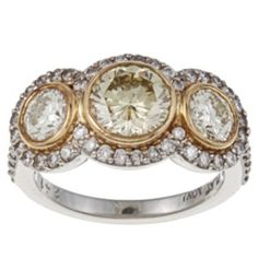 A perfect solution for accessorizing with your wedding ring... yellow AND white gold! Genius!