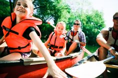 Kayaking with kids is a fun way to keep the family active on days off from school.