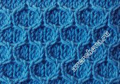 узор 445, knitting patterns, соты, араны