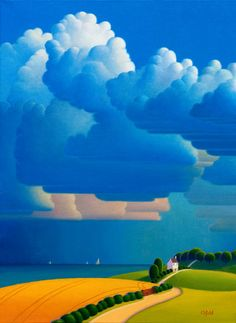 Paul Corfield Studio Work: Blue And Gold