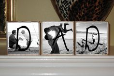 FATHERS DAY GIFTS Personalized Photo Blocks  Birthday by cjsworks, $27.00...easy enough for me :-)