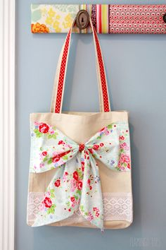 Cute Lace and Fabric Tote