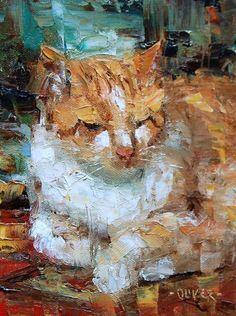 Mr Chomp Resting, painting by artist Julie Ford Oliver