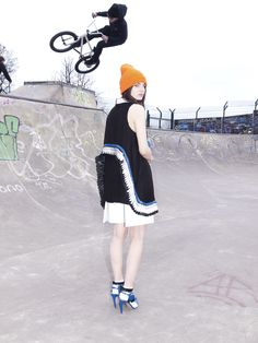 Danielle Romeril on Prowlster Graffiti, Ireland Fashion, Fall Winter, Autumn, Skate Park, Women Wear, Ballet Skirt, Hats, Skirts