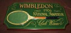 Large tennis sign Wimbledon Antique tennis art Tennis wall decor Tennis club Tennis racket Tennis racquet Tennis gift Tennis decor Wall art Tennis Clubs, Tennis Racket, Wimbledon Tennis Club, Tennis Gifts, Art Carved, Wall Art Decor, Vintage Items, Pub Bar, Signs