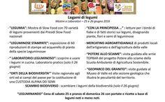 """Tutte le Mostre e i Laboratori presenti per il 25 e 26 giugno 2016 a Codera (SO) per l'evento """"Legami di Legumi"""""""