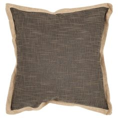 Linen and art silk pillow with a feather-down fill and jute flange detail.   Product: Set of 2 pillowsConstruction ...