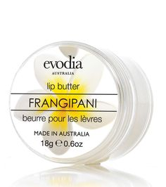 Frangipani Lip Butter Size: 18g/0.6oz  RRP: AUD$9.95  Product Code: 1252207  available from www.evodia.com.au Aud, Butter, Lips, Coding, Preserve, Programming