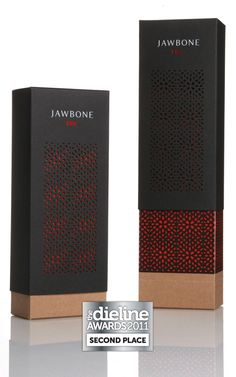package / Jawbone ERA - perforated outer sleeve adds pattern to the packaging and allows colour to show through from beneath. Attractive and interesting