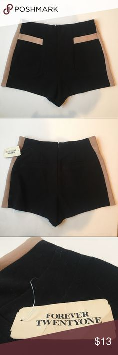 Forever 21 Black and Beige High Waisted Shorts New! With tag!   These shorts are a size small. Forever 21 Shorts