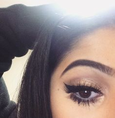 Liner + lashes.
