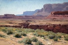 """Marble Canyon,"" Matt Smith, oil"