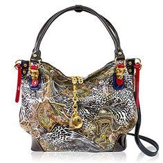 Marino Orlandi Italian Designer Jungle Glitter Patent Leather Large Purse Handbag Luxury Handbags, Fashion Handbags, Purses And Handbags, Designer Handbags, Stella Maccartney, Italian Handbags, Large Purses, Bago, Leather Design