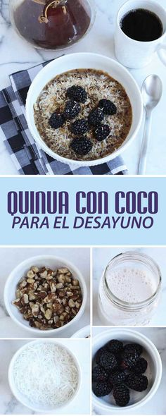 Discover recipes, home ideas, style inspiration and other ideas to try. Healthy Desayunos, Healthy Desserts, Healthy Recipes, Healthy Breakfasts, Vegetarian Recipes, Cooking Recipes, Snacks Saludables, Tasty, Yummy Food