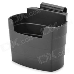 Brand: N/A; Quantity: 1 piece(s); Type: Bag; Using Way: Hanging Type; Material: ABS; Color: Black; Function: Can store cellphone, MP3, cigarettes and items; Packing List: 1 x Holder1 x Chair clip1 x Clip4 x Vent clips1 x Dual-side adhesive tape; http://j.mp/VznSfD