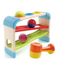 Take a look at this Tap 'N Tilt Roller Rack by Blue Box Toys on today! Baby Toys, Newborn Toys, Kids Toys, Baby Baby, Baby Activity Toys, Infant Activities, Baby Photo Gallery, Wooden Rack, Baby Center