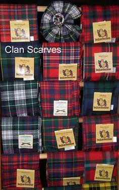 Clan Scarves - tartans galore!