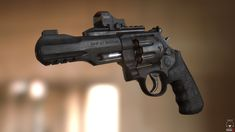 Smith & Wesson R8. Modeled in maya. Textured with Photoshop. Presented In Marmoset. 8000 triangles. 2k texture for the gun, and 1k for the optic.