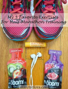 Favorite Exercises for Half-Marathon Training. This fitness routine includes five strength training moves that are perfect for cross-training for anyone running a half-marathon, marathon, 5K, or 10K.