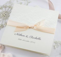 Lace Wedding Invitation by TheBoutiquePaperCo on Etsy, $8.50