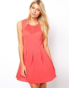 Oasis Skater Dress With Pleat Detail - bridesmaids