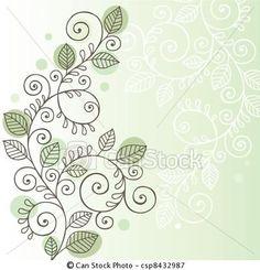 Vetor - videiras, folhas, doodle, desenho - estoque de ilustração, ilustrações royalty free, banco de ícone clip arte, banco de ícones clip arte, fotos EPS, fotos, gráfico, gráficos, desenho, desenhos, imagem vetorial, arte vetor EPS.