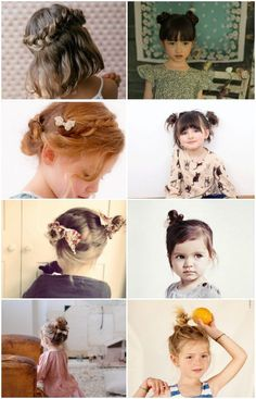 Adorable simple hairstyles for little girls!! No tight face-lifting, headache-inducing styles. Easy, casual and super cute!: