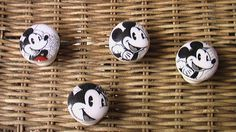 Handmade Porcelain Knob Drawer Pull Mickey Mouse by QuillowShop, $5.00